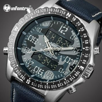 Mens Watches Luxury Analog Digital Military Watch Tactical Army Big Watch