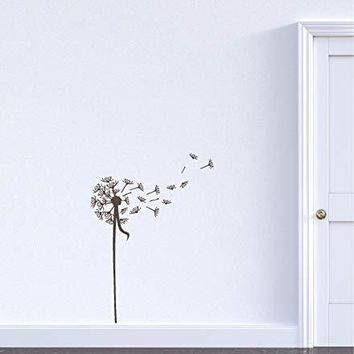 Dandelion Flower Vinyl Wall Art Sticker Decal Graphic Home Decor