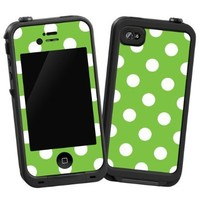 "White Polka Dot on Lime ""Protective Decal Skin"" for LifeProof 4/4S Case:Amazon:Cell Phones & Accessories"