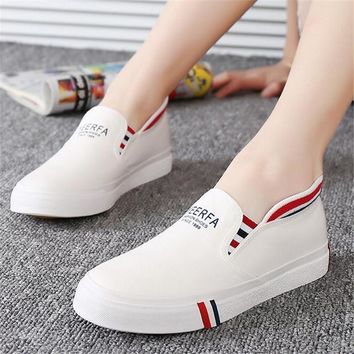 Shoelace female canvas shoes shallow mouth foot wrapping breathable canvas shoes femal