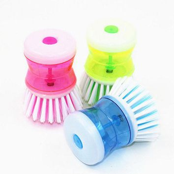 DCCKL72 Random Color washing pot Brush kitchen gadgets Wash Tool Pan Dish Bowl brush Scrubber glove Cleaning brushes Cleaner