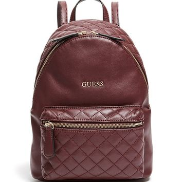 GUESS Factory Women's Zayn Quilted Backpack