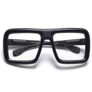 The Mogul Large Oversized Square Frame Clear Lens Glasses
