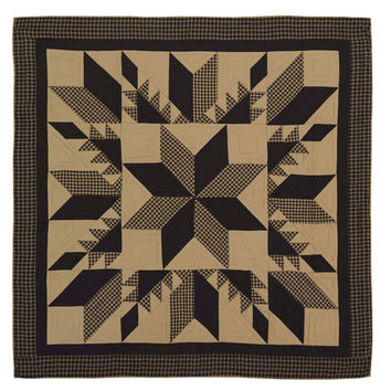 Dakota Star Patchwork Quilt - Choose Size - Ashton & Willow - Black and Tan - Country/Rustic Charm