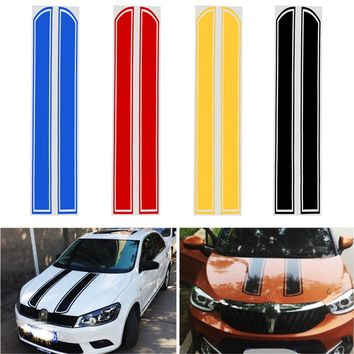 Car Stickers and Decals Car Styling Auto Motorcycle Sticker Hood Engine Cover DIY Stripe Decoration Reflective