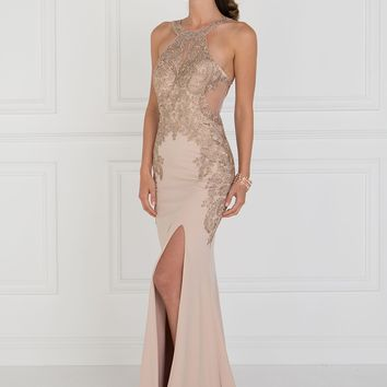 A Mermaid lace prom dress with ruffles   GLS 1519