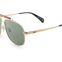 TOMS Booker Satin Gold Polarized No color specified OS