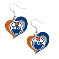 Edmonton Oilers Women's Swirl Heart Earrings