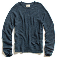 Navy Wool Rib Sweatshirt