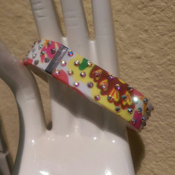 Fitbit Flex band with Swarovski crystals - BRIGHT FLORAL