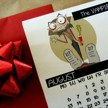 2012 Calendar DIY PDF Printable Files Cute by littletoad on Etsy