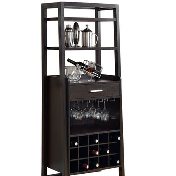 "Cappuccino 60""H Ladder Style Bar Unit"