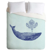 Terry Fan Damask Whale Duvet Cover