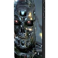 Terminator Genisys Head Steel iPhone 5 Case Hardplastic Frame Black Fit For iPhone 5 and iPhone 5s