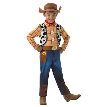 Toy Story Woody Deluxe Boys Children's Fancy-Dress-Up Costume 4 Sizes FREE SHIPPING