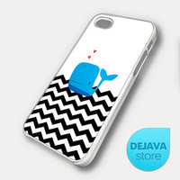Black Chevron Whale iPhone 5 Case