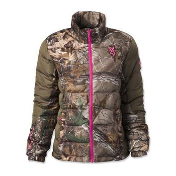 Hell's Belles Blended Down Jacket Realtree Xtra/Tan, 2X-Large