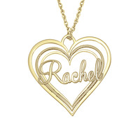 Triple Heart Name Necklace