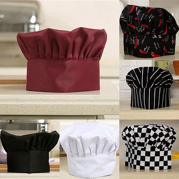 Hot Comfortable Cook Adjustable Men Kitchen Baker Chef Elastic Cap Hat Catering New 2017