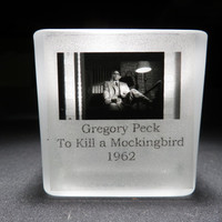 GREGORY PECK - To Kill a Mockingbird - Film Cell - Glass Votive