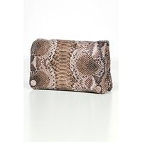 Compliment Me Snake Skin Purse (Brown Snake)