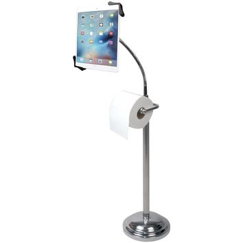 Cta Digital Tablet Pedestal Stand With Roll Holder CTAPADTSBU