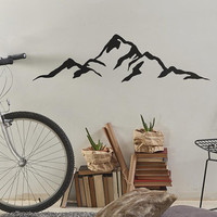 Mountain Wall Decal - Modern Vinyl Decal, Unique Gift Idea, Home Decor, Removable Wall Art