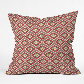 Bianca Green Aztec Fiber 1 Throw Pillow