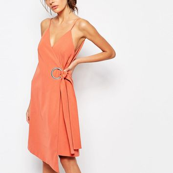 C/meo Collective On The Line Wrap Dress with Ring Detail