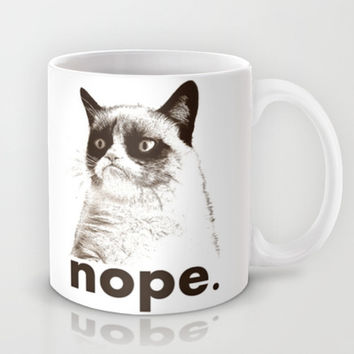 GRUMPY CAT - Nope (version 2) Mug by John Medbury (LAZY J Studios) | Society6