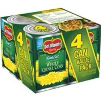 Del Monte Fresh Cut Golden Sweet Whole Kernel Corn, 15.25 oz, 4 Count Box - Walmart.com