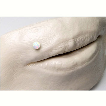 Opal nose pin w/ball end,labret jewelry,Indian nose stud,tragus stud,Tribal septum,nose stud,piercing pin,opal sterling silver handmade stud