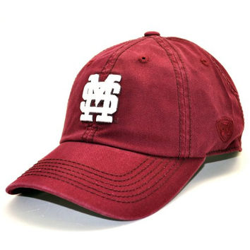 Top of the World NCAA Top of the World Adult Adjustable Cotton Crew Hat-Mississippi State Bulldogs