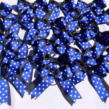 Blue and Black Cheer Bows, Cheerleader Bows, Personalized Cheer Bows, Team Hair Bows