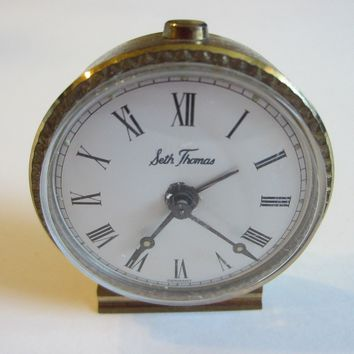 Seth Thomas Germany Miniature Hand Winding Clock