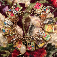 The Little Engine That Could Art Upcycled Charm Bracelet