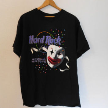 Vintage 90's Hard Rock Cafe New Orleans Mardi Gras T shirt Size Large