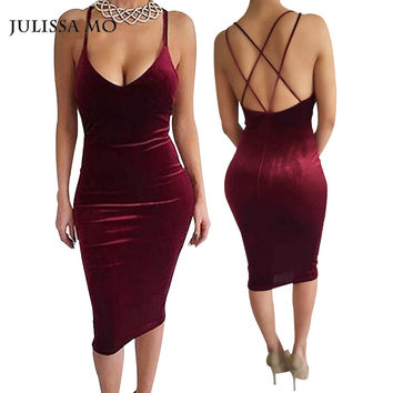 8dd98d0416e7 Sexy Club Dress 2018 Vestidos New Fashion Sleeveless Slim Backle