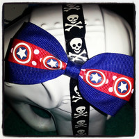 Geek Chic: Captain America Shield Inspired Hair Bow