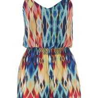 Multicolor Patterned Romper - Multi