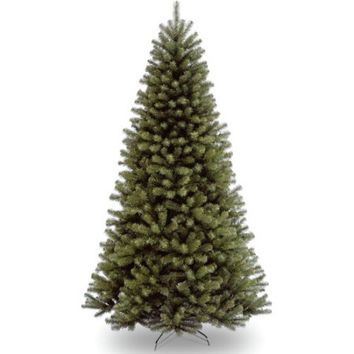National Tree Unlit 7-1/2' North Valley Spruce Hinged Artificial Christmas Tree - Walmart.com