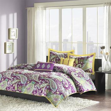 Melissa Polyester Peach Skin Printed Comforter Set - Bedding | Intelligent Design