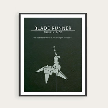Blade Runner, Philip K. Dick, Ridley Scott, Minimal Movie Poster.