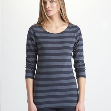 Stripe 3/4 Sleeve Tee
