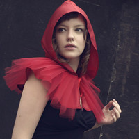 Little Red Riding Hood cape  tulle and satin  by KarolinfelixDream