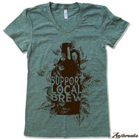 Womens Local BREW T Shirt American Apparel S M L XL (14 Colors)