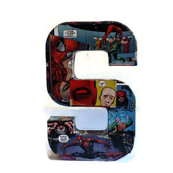 Comic Book Decor Letter S Large free standing Perfect for Home Office or Man Cave