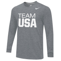 Men's Nike Dark Gray Team USA Core Long Sleeve T-Shirt