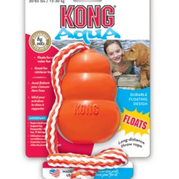 Aqua Kong Water Dog Toy - Orange Medium