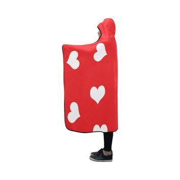 Red hooded blanket 50x40